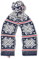 Thom Browne - Patterned Wool And Mohair-blend Scarf