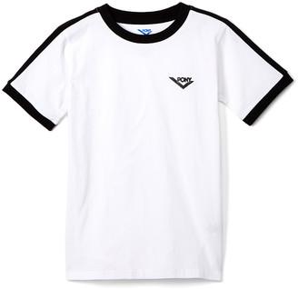 Pony Boys' Tee Shirts WHITE - White Logo Ringer Tee - Boys