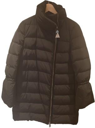 Moncler Long Black Synthetic Coats