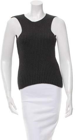 Celine Sleeveless Rib Knit Top w/ Tags