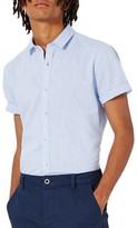 Topman Men's Slim Fit Slub Shirt