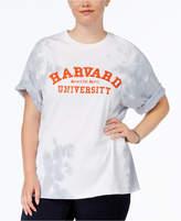 Hybrid Trendy Plus Size Cotton Harvard Graphic T-Shirt