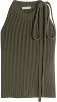J.W.Anderson Ribbed Cotton Top - Army green