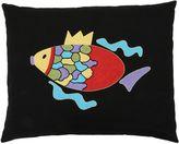 Loretta Caponi Mendini Fish Embroidered Accent Pillow