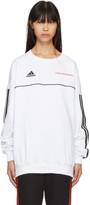 Gosha Rubchinskiy White Adidas Originals Edition Logo Sweatshirt