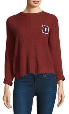 Rails Women's Joanna Letter D Sweater - Oxblood - Size XS