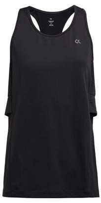 Calvin Klein Black Reflective Logo Print Tank Top - Womens - Black
