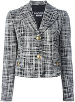 Moschino scratchy print jacket