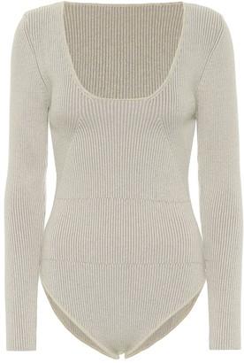 Jacquemus Le Body Adour rib-knit wool-blend bodysuit