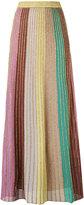 M Missoni metallic knit maxi skirt - women - Cotton/Polyamide/Polyester - 38