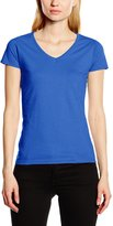 Fruit of the Loom Ladies Lady-Fit Valueweight V-Neck Short Sleeve T-Shirt (XS)