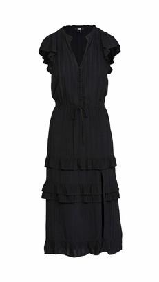 Paige Women's Flutter Sleeve Midi w/Slit Illyria Dress