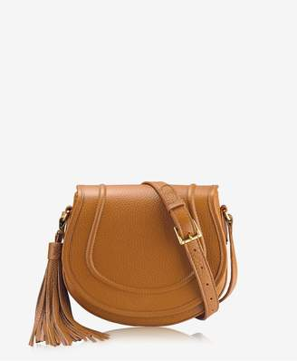 GiGi New York Jenni Saddle Bag In Sable Pebble Grain