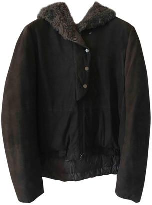 Brunello Cucinelli Anthracite Suede Coats
