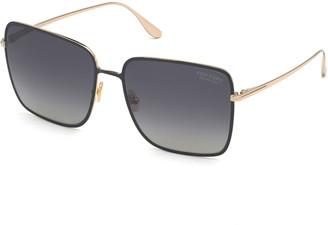 Tom Ford Heather Square Metal Sunglasses