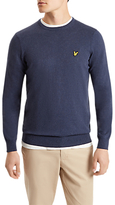 Lyle & Scott Cotton Merino Jumper, Ink Blue Marl