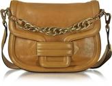 Pierre Hardy Alphaville Camel Grained Leather Shoulder Bag