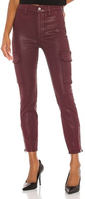 7 For All Mankind Coated Skinny Cargo With Faux Front Pockets