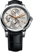"""Maurice Lacroix Men's PT6188-SS001-131 """"Pontos"""" Stainless Steel Automatic Watch with Black Leather Band"""