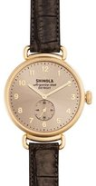 Shinola 38mm Canfield Alligator Strap Watch, Gunmetal/Gold