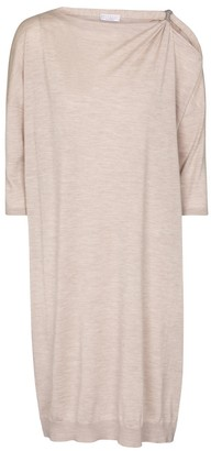 Brunello Cucinelli Cashmere and silk sweater dress