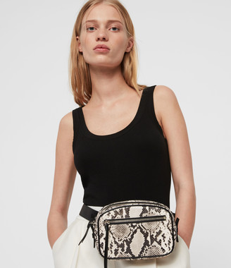 AllSaints Sliver Leather 2-In-1 Fanny Pack Crossbody Bag