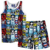 XiaoYouYu Little Boy's 2 PCS Cartoon Sleeveless Tank Tops Shorts Clothing Sets US Size 3T