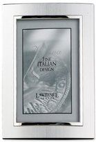 Lawrence Frames Domed Brushed Silver Metal 4 by 6 with Shiny Silver Inner Edge Picture Frame