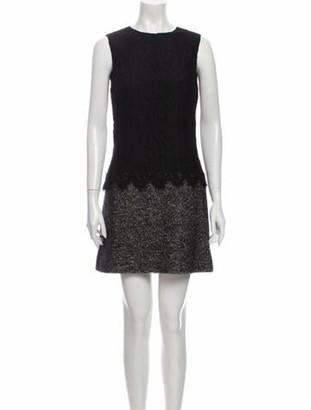 Dolce & Gabbana Colorblock Pattern Mini Dress Black