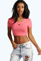 Boohoo Nicole Short Sleeve Crop Top