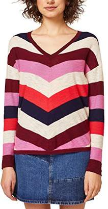 Esprit edc by Women's 028cc1i006 Jumper, Red (Bordeaux 600), Small