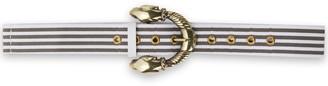 Maje Amira Striped Canvas Belt