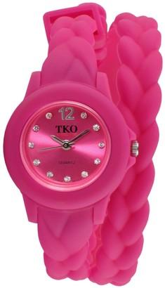 Tko Orlogi TKO Orlogi Women's Crystal Braided Wrap Watch