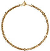 "Lauren Ralph Lauren Back to Basics II 18"" Braided Gold Chain Necklace"