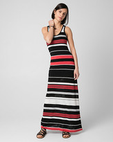 Le Château Stripe Jersey Scoop Neck Maxi Dress