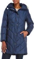 Anne Klein Faux Fur Hood Down Coat