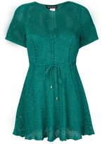 Twin-Set belted knit mini dress