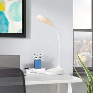 """Bellino Orren Ellis LED 25.2"""" Desk Lamp Orren Ellis Finish: Glossy White"""