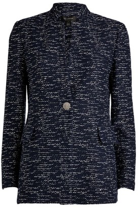 St. John Two-Toned Float Knitted Jacket