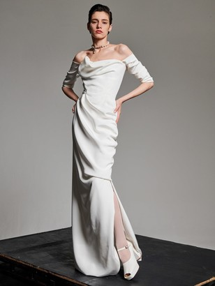 Vivienne Westwood Draped Silk Cady Dress