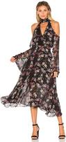 Nicholas Floral Chain Neck Wrap Front Dress