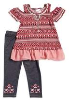 Nannette Little Girl's Cold Shoulder Tunic and Leggings Set