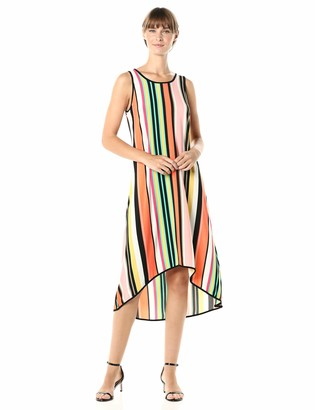 MSK Women's HI-LO Hem Dress Combo Binding