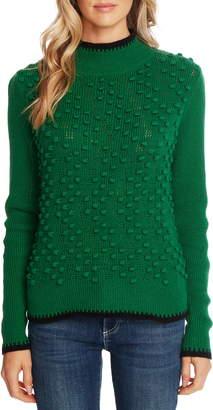 CeCe Tipped Turtleneck Sweater