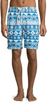 Trunks Surf & Swim Co. Swami Swim Trunks, Blue Pattern