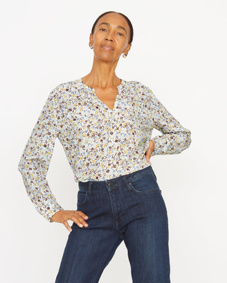 Jigsaw Scattered Ditsy Silk Blouse