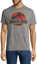 Novelty T-Shirts Jurassic Park Cracked Logo T-Shirt