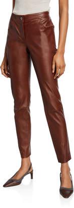 Brunello Cucinelli Leather 4-Pocket Leggings