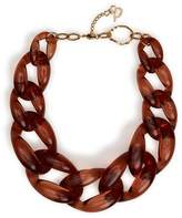 Diana Broussard Nate Large Chain Necklace In Brown