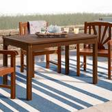 Beachcrest Home Rothstein Solid Wood Dining Table